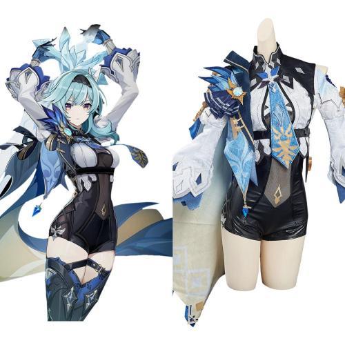 Genshin Impact Eula Cosplay Kostüme Outfits Halloween Karneval Kostüm