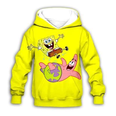 Kinder Jungen Mädchen Hoodie Pulli Sweatshirt SpongeBob 3D Druck Sweatshirts Hooded Kaputzepullover