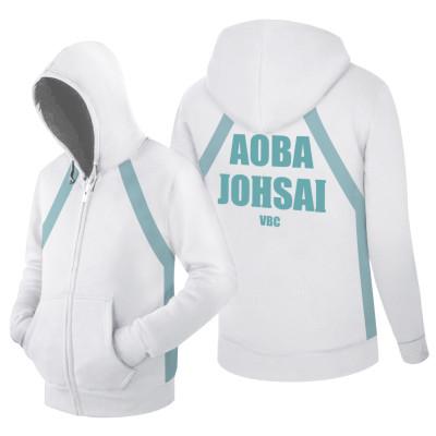 Haikyuu Aoba Johsai High Erwachsene Jacke mit Kaputze alltäglich Tragen Unisex Jacke EU-Größe