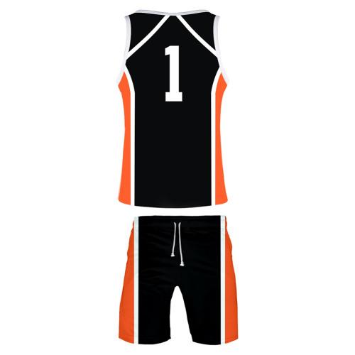 Daichi Sawamura Haikyuu!! Volleyball!! Karasuno High Nummer 1 Daichi Sawamura Sommer T-Shirt Shorts 2tlg