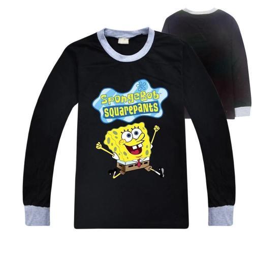 Kinder Jungen Mädchen SpongeBob T Shirt Tee Top Kuzrarm Kinder Sweatshirts Langarm Alltag
