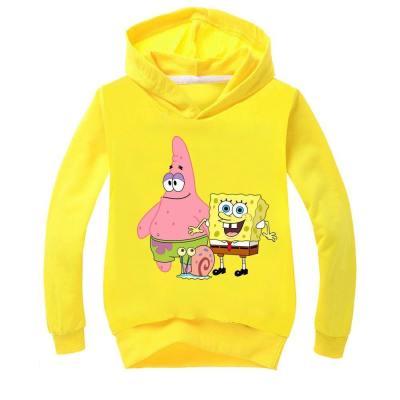 Kinder SpongeBob Hoodie Sweatshirt 3D Druck Sweatshirts Hoodie Pullover mit Kaputze für Alltag