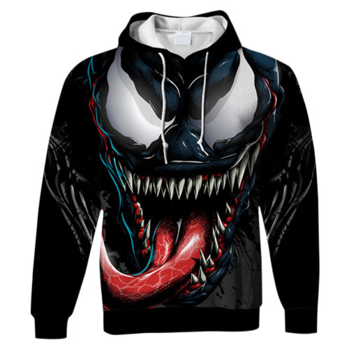 Venom Hoodie Kaputzenpullover für Erwachsene Unisex Pulli für Alltag