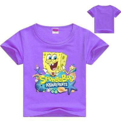 Kinder Jungen Mädchen T-Shirt Tee Top SpongeBob Kartoon Kurzarm