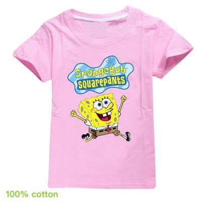 Kinder T-Shirt Oberteil T-shirt SpongeBob Kartoon Kinder Top Kurzarm Alltag