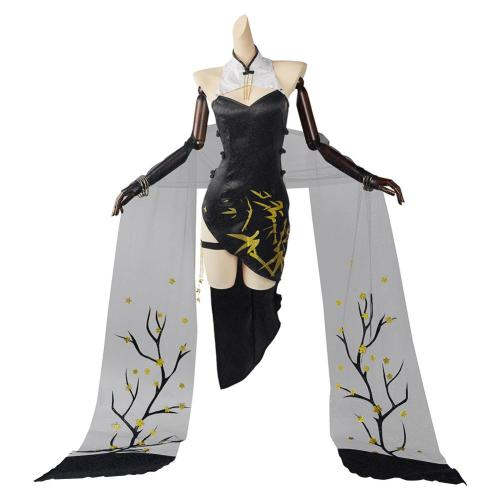 Arknights Ambience Synesthesia FEatet Cosplay Kostüm Cheongsam Outfits Halloween Karneval Suit
