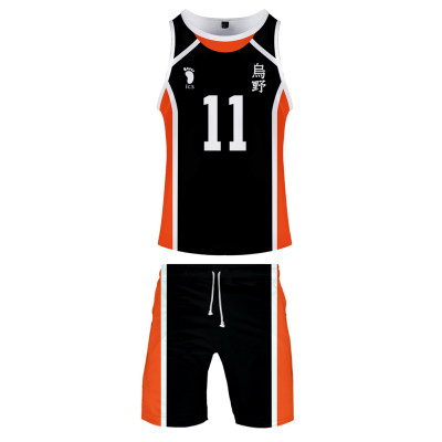 Haikyuu!! Volleyball!! Karasuno High Nummer 11 Kei Tsukishima Sommer T-Shirt Shorts 2tlg