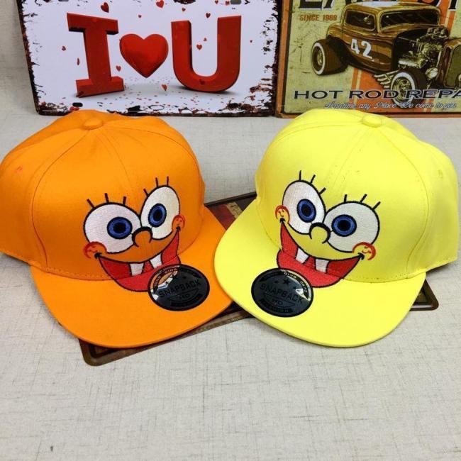 Kinder Kartoon SpongeBob Baseball Cap Snapbacks Hut Stickerei Gesichtsschutzkappe