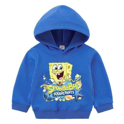 Kinder Jungen Mädchen Hoodie Sweatshirt SpongeBob 3D Druck Pullover Hooded Alltag
