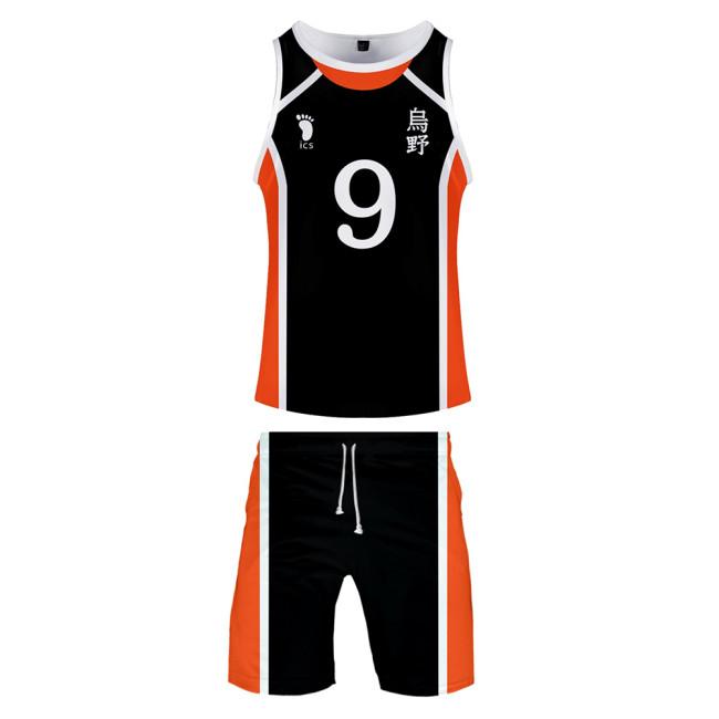 Haikyuu!! Volleyball!! Karasuno High Nummer 9 Tobio Kageyama Sommer T-Shirt Shorts 2tlg