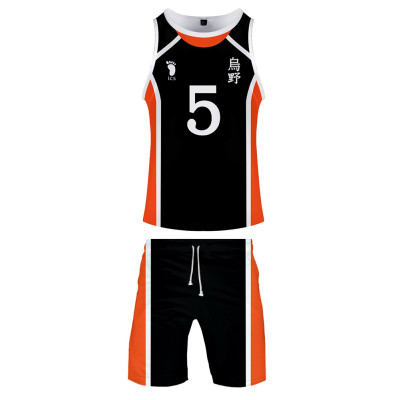 Haikyuu!! Volleyball!! Karasuno High Nummer 5 Ryunosuke Tanaka Sommer T-Shirt Shorts 2tlg