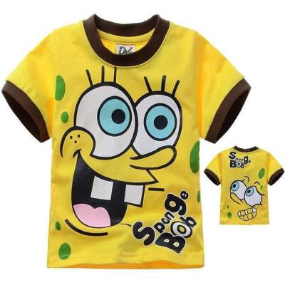Kinder SpongeBob T Shirt Cosplay Kurzarm Tshirt Tee Top Gelb für Alltag