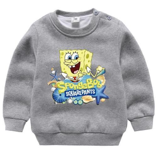 Kinder SpongeBob Herbst Mädchen Jungen Sweatshirts Langarm Pulli Pullover Rundhals