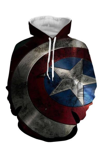 The Falcon and the Winter Solider Shield Druck Hoodie Unisex Erwachsene Pulli Kaputzenpullover