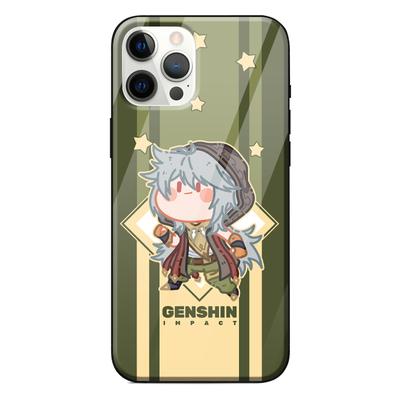 iPhone Handyhülle Genshin Impact Handyhülle Silikon/Glas Hülle für Spiel Fans