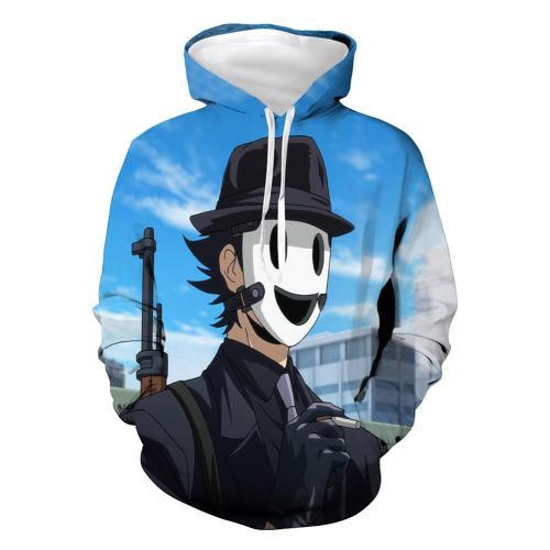 High-Rise Invasion Hoodie Pulli Snipe Mask Sweatshirt Pullover mit Kaputze für Erwachsene