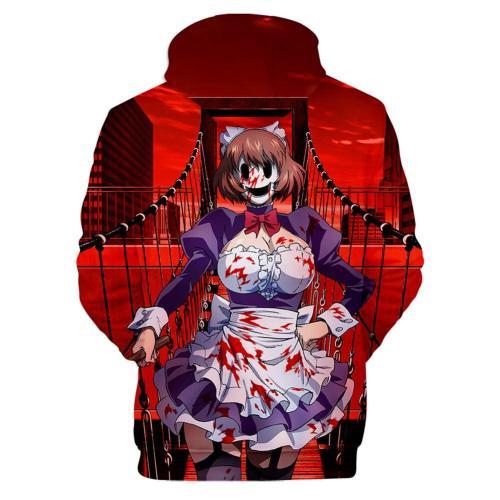 High-Rise Invasion Maid-fuku Kamen Maid Cosplay Hoodie 3D Druck Sweatshirt Erwachsene Pullover mit Kaputze