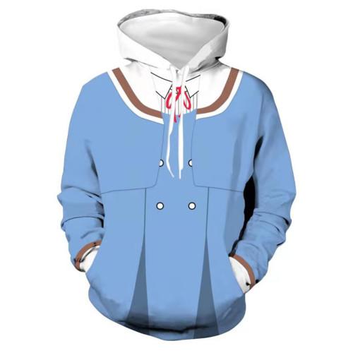 High-Rise Invasion Cosplay Hoodie 3D Druck Shinzaki Kuon Sweatshirt Pullover mit Kaputze für Alltag