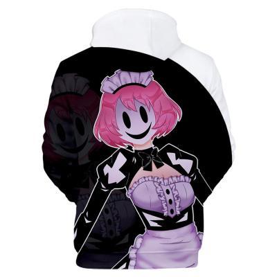 High-Rise Invasion Maid-fuku Kamen Hoodie 3D Druck Sweatshirt Erwachsene Pullover mit Kaputze für Altag