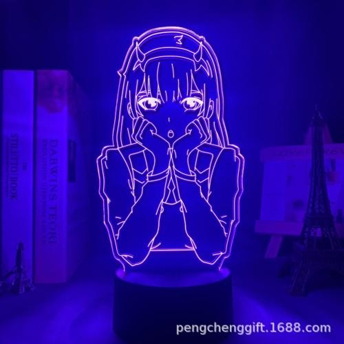 DARLING in the FRANXX CODE 002 LED Licht Tischlampe Nachtlicht 7 Farbe Zuhause Dekoration