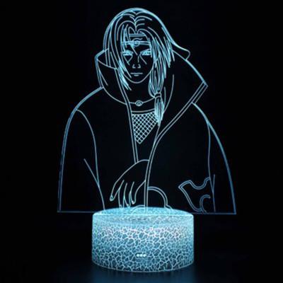 NARUTO Itachi Uchiha LED Licht Tischlampe Nachtlicht 7 Farbe Zuhause Dekoration