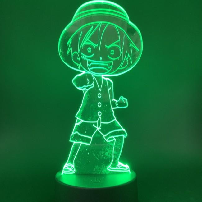ONE PIECE Monkey.D.Luffy LED Licht Tischlampe Nachtlicht 7 Farbe Zuhause Dekoration