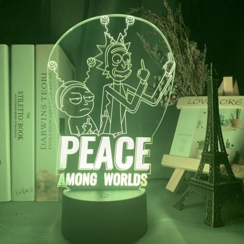 Rick and Morty LED Licht Tischlampe Nachtlicht 7 Farbe Zuhause Dekoration