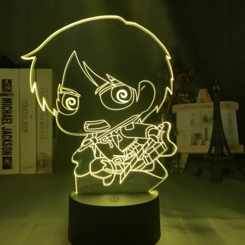 AOT Attack on Titan LED Licht Tischlampe Nachtlicht 7 Farbe Zuhause Dekoration