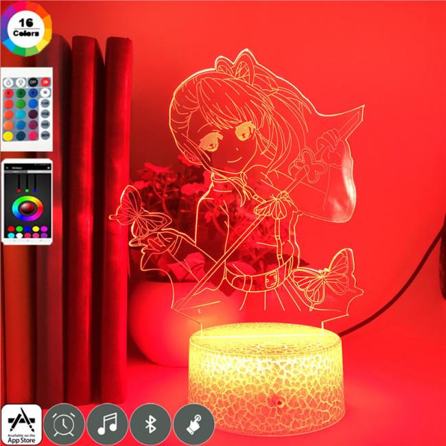 Kanao Tsuyuri Demon Slayer LED Licht Kanao Tsuyuri Tischlampe Nachtlicht 16 Farbe Zuhause Dekoration