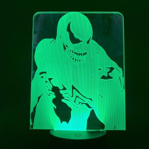 Venom LED Licht Tischlampe Nachtlicht 7 Farbe Zuhause Dekoration