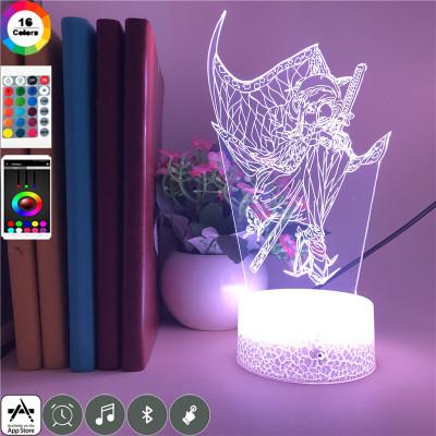 Demon Slayer LED Licht Shinobu Kocho Tischlampe Nachtlicht 16 Farbe Zuhause Dekoration