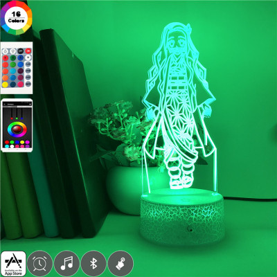 Nezuko Kamado Demon Slayer LED Licht Nezuko Kamado Tischlampe Nachtlicht 16 Farbe Zuhause Dekoration