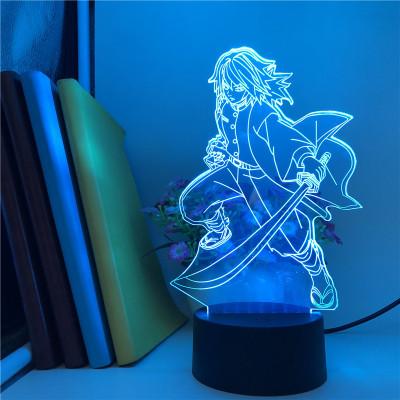 Giyu Tomioka Demon Slayer LED Licht Giyu Tomioka Tischlampe Nachtlicht 16 Farbe Zuhause Dekoration