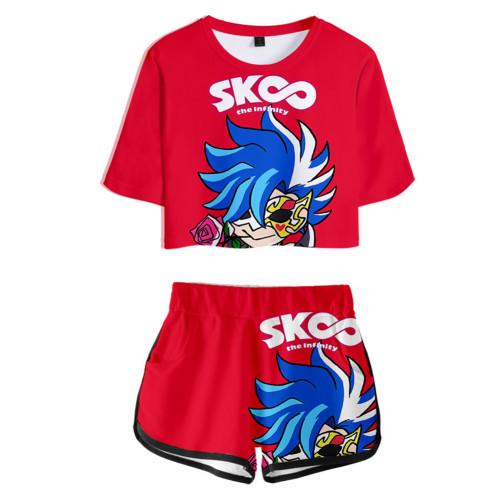 SK8 The Infinity Sommer T Shirt Ainosuke Shindo Kurzarm Rundhals Sportbekleidung