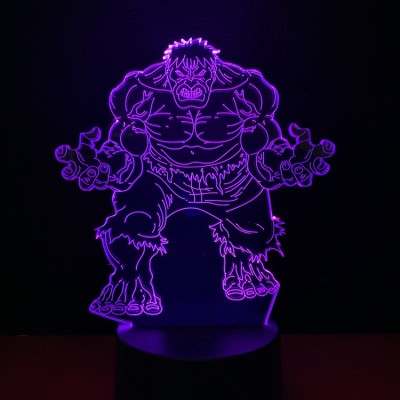 Marvel Hulk Klotz LED Licht Tischlampe Nachtlicht 7 Farbe Zuhause Dekoration