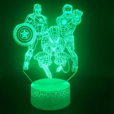 Avengers Captain American Spider Man Iron Man LED Licht Batman Tischlampe Nachtlicht 7 Farbe Zuhause Dekoration