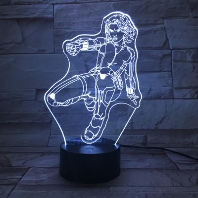 Avengers Black Widow LED Licht Natasha Romanoff Tischlampe Nachtlicht 7 Farbe Zuhause Dekoration