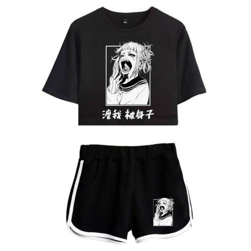 My Hero Academia Himiko Toga Sommer T Shirt Kurzarm Rundhals Sportbekleidung