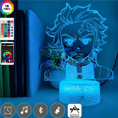 Demon Slayer LED Licht Tanjiro Kamado Tischlampe Nachtlicht 16 Farbe Zuhause Dekoration