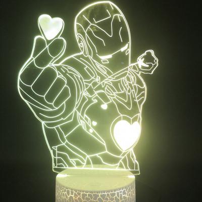 Iron Man Avengers LED Licht Iron Man Tischlampe Nachtlicht 7 Farbe Zuhause Dekoration