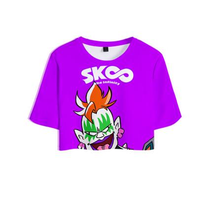 SK8 The Infinity Sommer T Shirt S Shadow Hiromi Higa Kurzarm Rundhals Sportbekleidung