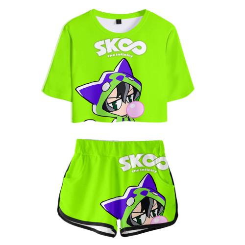 SK8 The Infinity Sommer T Shirt Miya Chinen Kurzarm Rundhals Sportbekleidung