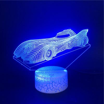 Batman Auto Motiv Avengers LED Licht Batman Tischlampe Nachtlicht 7 Farbe Zuhause Dekoration