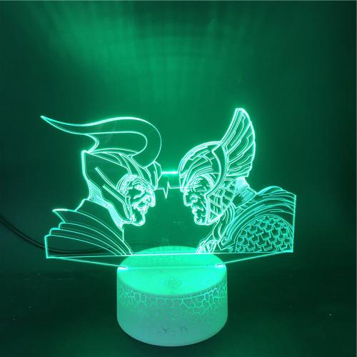 Loki und Thor Avengers LED Licht  Tischlampe Nachtlicht 7 Farbe Zuhause Dekoration