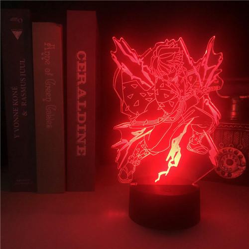 Zenitsu Demon Slayer LED Licht Zenitsu Agatsuma Tischlampe Nachtlicht 16 Farbe Zuhause Dekoration