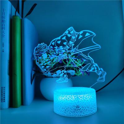 Demon Slayer LED Licht Zenitsu Agatsuma Tischlampe Nachtlicht 16 Farbe Zuhause Dekoration