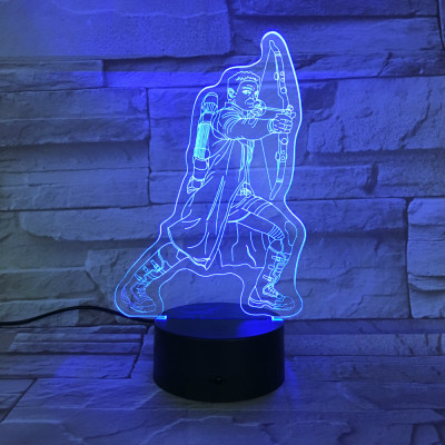 Hawkeye Avengers Clint Barton LED Licht Tischlampe Nachtlicht 7 Farbe Zuhause Dekoration