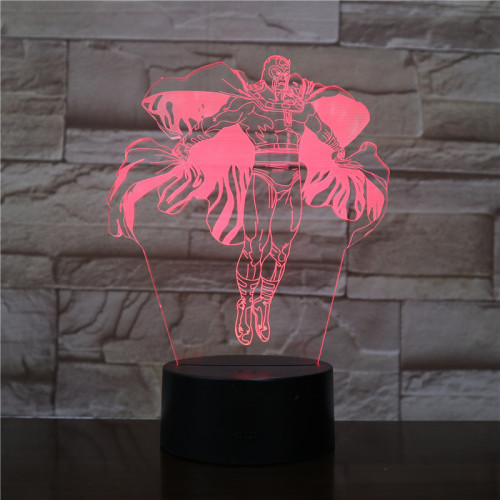 Magneto Avengers Magneto LED Licht Tischlampe Nachtlicht 7 Farbe Zuhause Dekoration