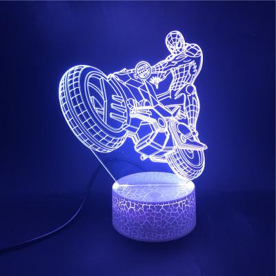 Spider Man Avengers Spider Man Avengers LED Licht Batman Tischlampe Nachtlicht 7 Farbe Zuhause Dekoration