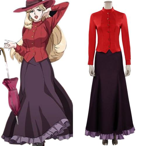 Joran: The Princess of Snow and Blood Elena Hanakaze Cosplay Kostüm Halloween Karneval Outfits